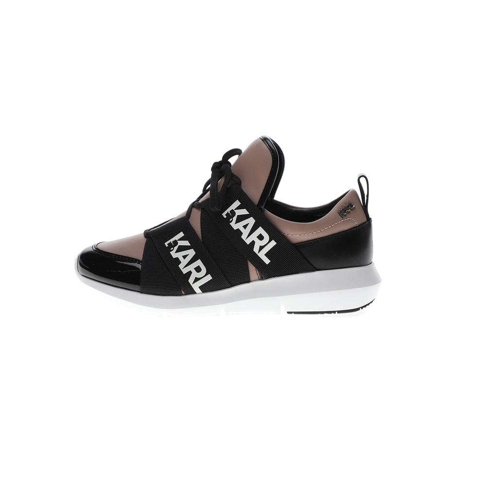 KARL LAGERFELD – Γυναικεία sneakers KARL LAGERFEND VITESSE Legere Strap Lthr μαύρα ροζ