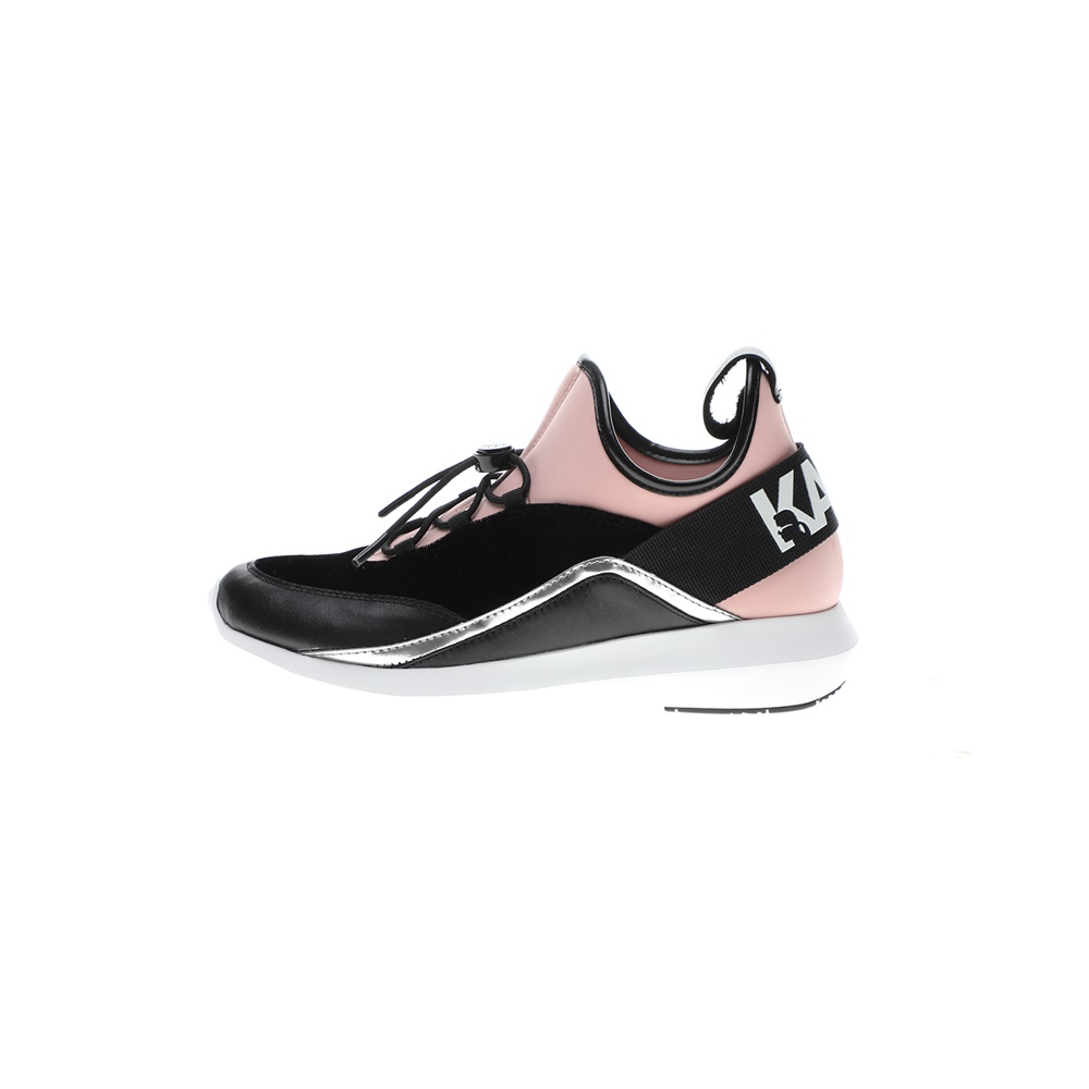 KARL LAGERFELD – Γυναικεία sneakers KARL LAGERFEND VITESSE Legere Sock Mix Lo μαύρα ροζ