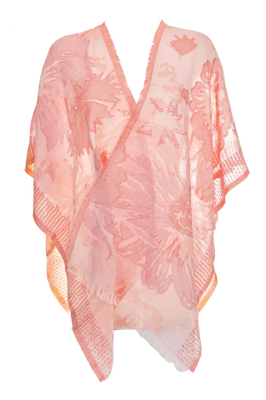 ECHO - Γυναικεία εσάρπα ECHO SHIMMER FLORAL RUANA ροζ
