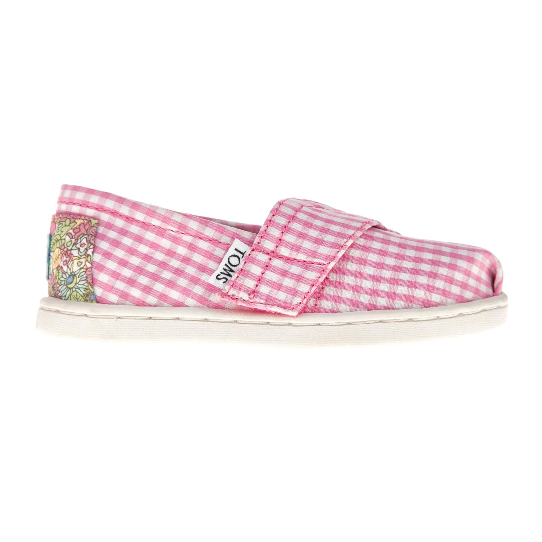 TOMS – Βρεφικές εσπαντρίγιες TOMS ροζ με καρό μοτίβο