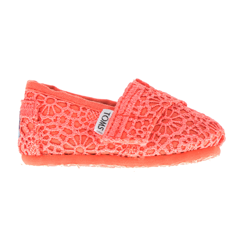 TOMS - Βρεφικές εσπαντρίγιες TOMS πορτοκαλί παιδικά baby παπούτσια εσπαντρίγιες slip on