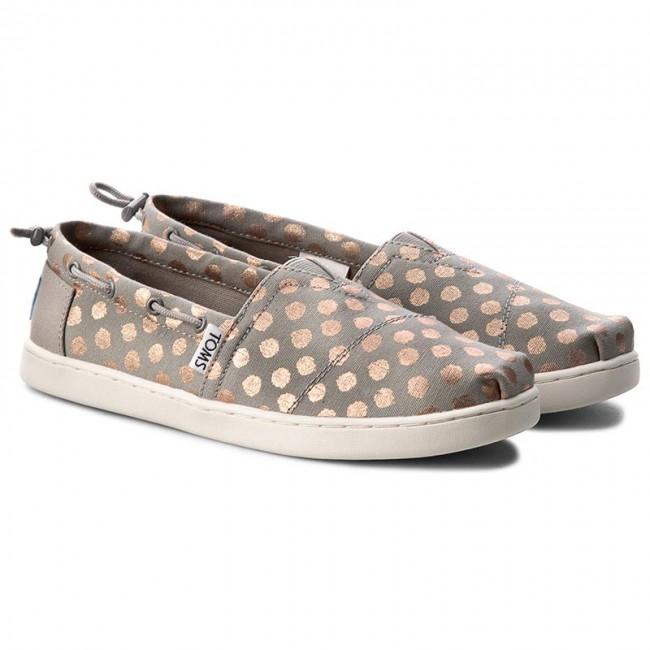 TOMS - Παιδικά slip-ons TOMS ROSE GOLD BIMINI πουά παιδικά girls παπούτσια εσπαντρίγιες slip on