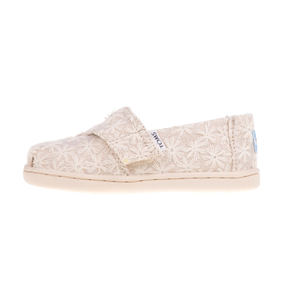 110d343358e -31% Factory Outlet TOMS – Βρεφικά slip-ons TOMS NATURAL DAISY μπεζ