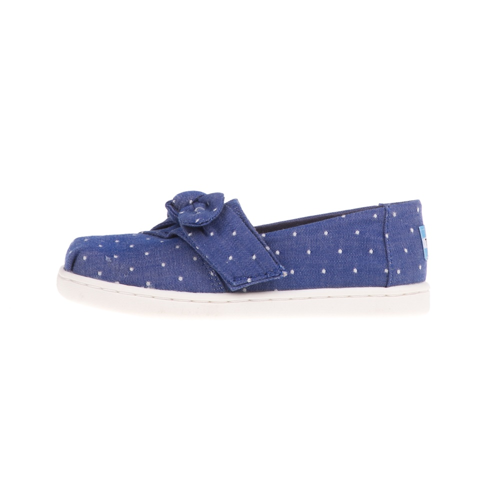 TOMS – Βρεφικά slip-ons TOMS BLUE DOT CHMBRY/BOW μπλε