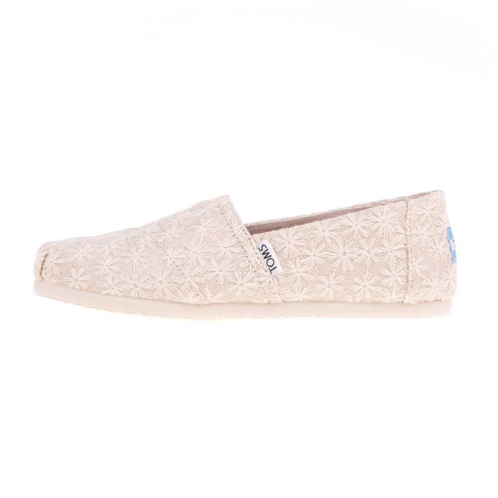 TOMS - Παιδικά slip-ons TOMS NATURAL DAISY μπεζ