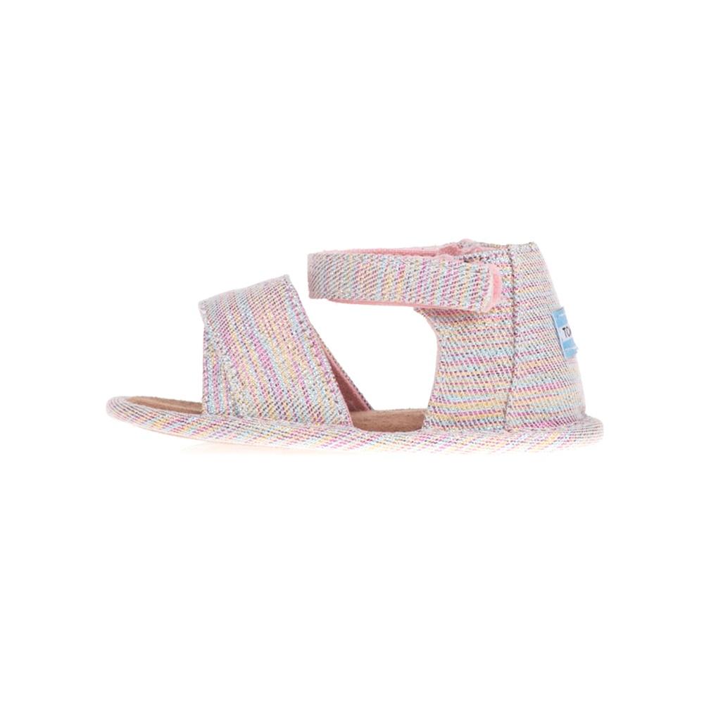TOMS – Βρεφικά ριγέ σανδάλια TOMS SKY WASHED SHILOH ροζ