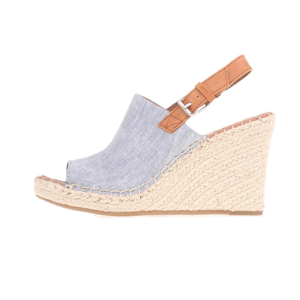 TOMS – Γυναικείες peep-toe πλατφόρμες TOMS μπλε