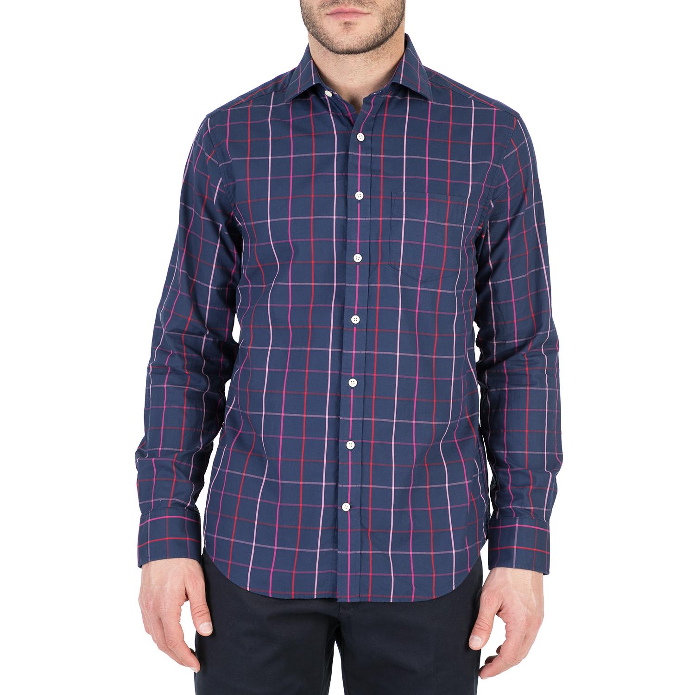 GANT - Ανδρικό μακρυμάνικο πουκάμισο GANT μπλε ανδρικά ρούχα πουκάμισα μακρυμάνικα