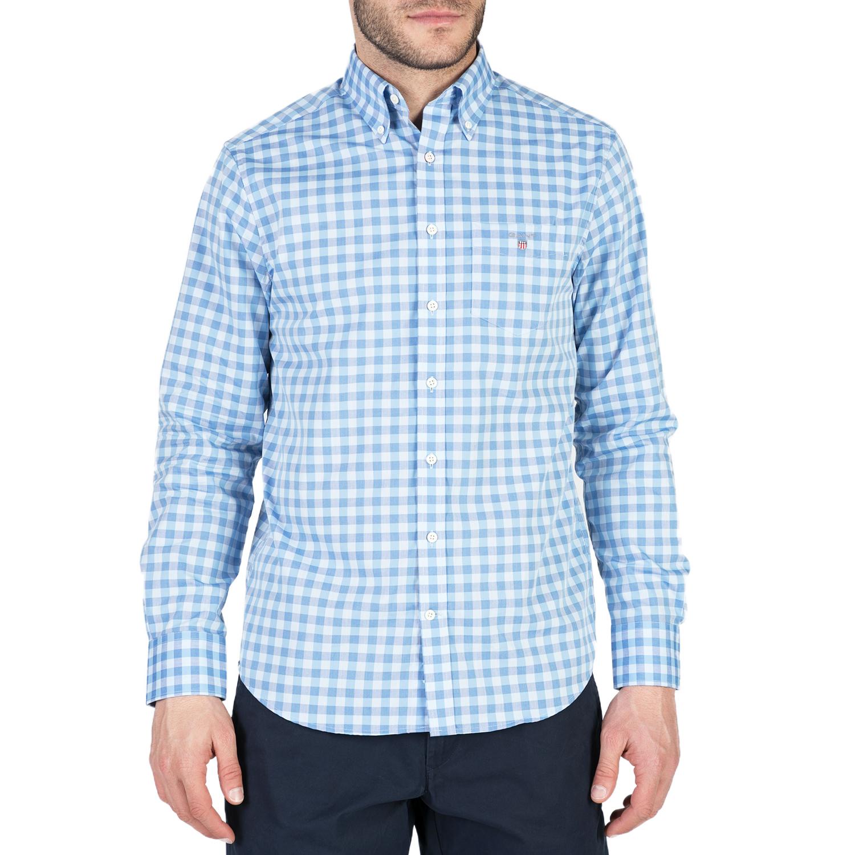 GANT - Ανδρικό μακρυμάνικο πουκάμισο GANT γαλάζιο ανδρικά ρούχα πουκάμισα μακρυμάνικα