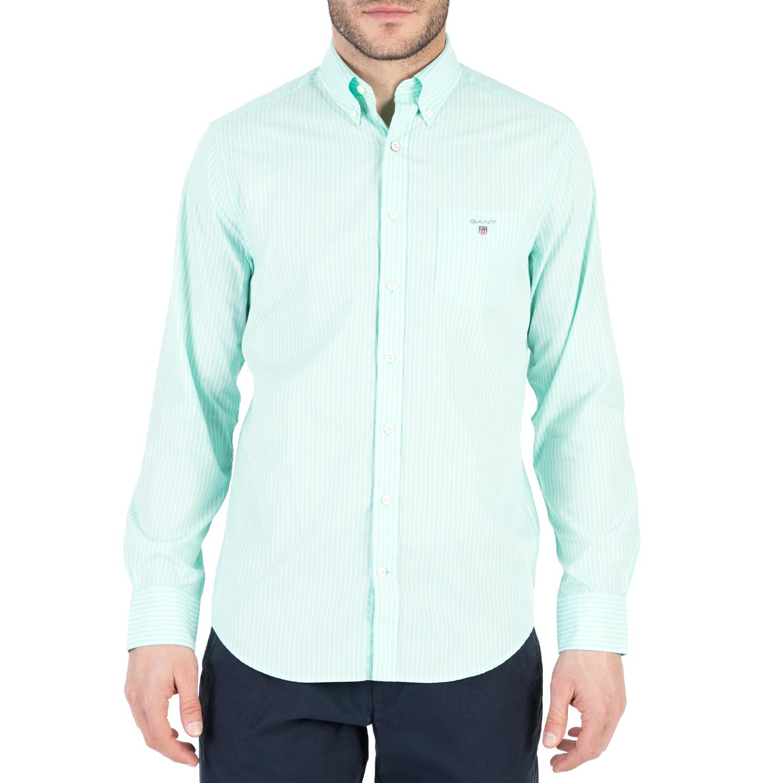 GANT - Ανδρικό μακρυμάνικο πουκάμισο GANT βεραμάν ανδρικά ρούχα πουκάμισα μακρυμάνικα
