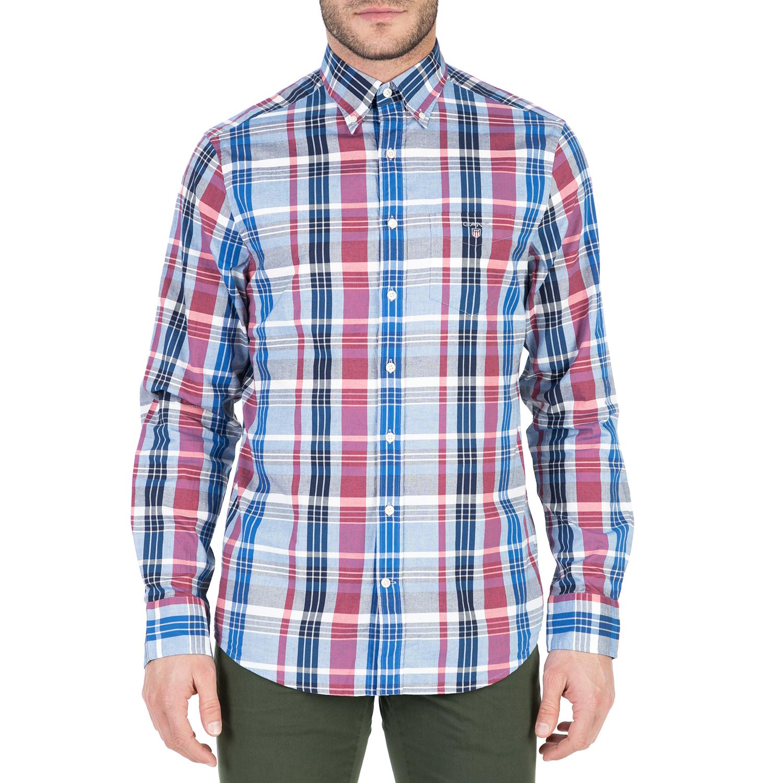 GANT - Ανδρικό μακρυμάνικο πουκάμισο GANT με μοτίβο ανδρικά ρούχα πουκάμισα μακρυμάνικα