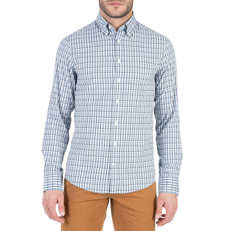 GANT - Ανδρικό μακρυμάνικο πουκάμισο GANT με καρό μοτίβο ανδρικά ρούχα πουκάμισα μακρυμάνικα
