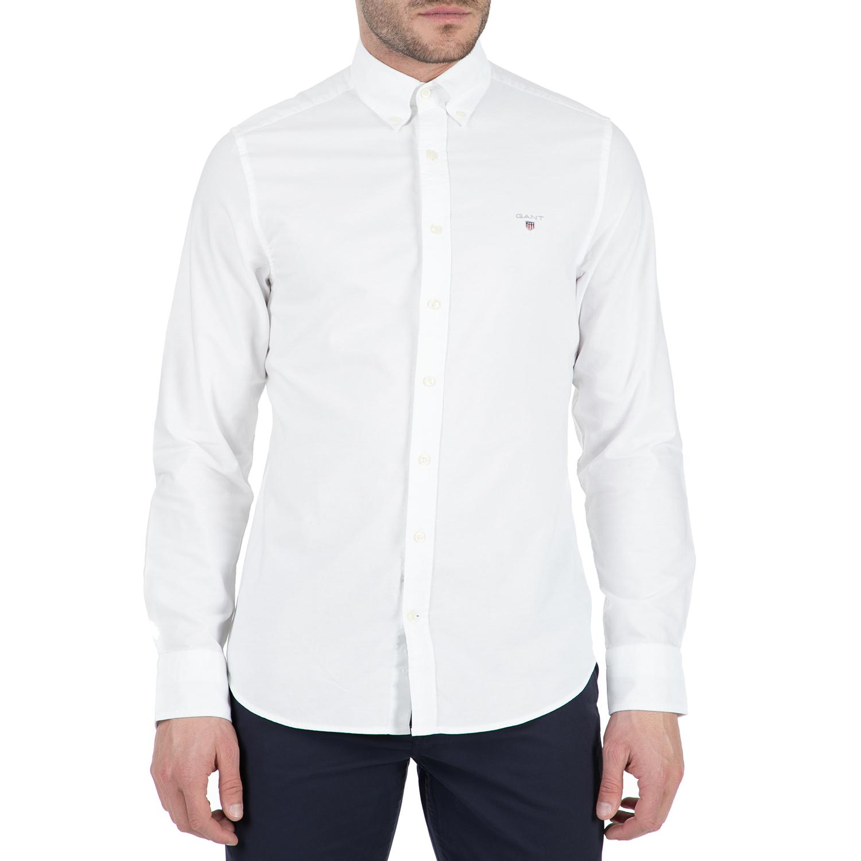 GANT - Ανδρικό μακρυμάνικο πουκάμισο Gant λευκό
