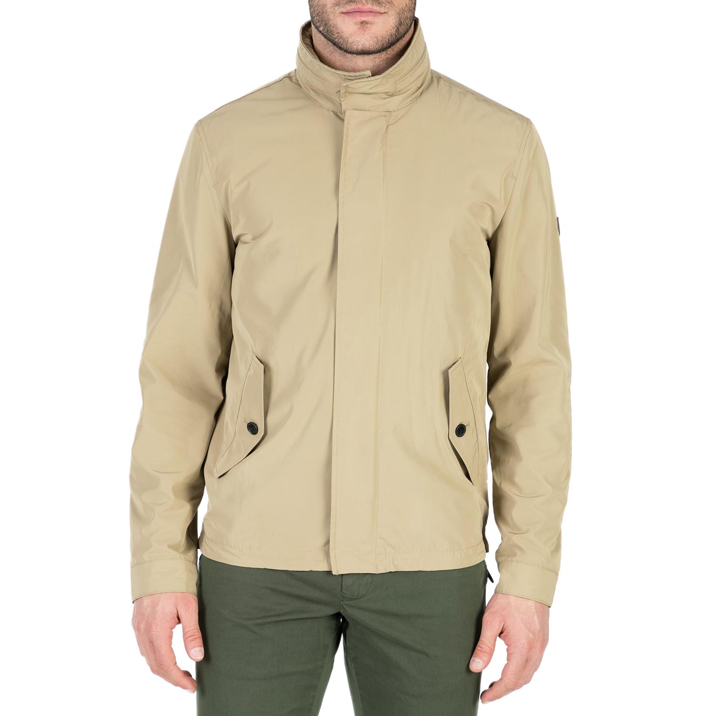 GANT - Ανδρικό μπουφάν GANT μπεζ ανδρικά ρούχα πανωφόρια μπουφάν
