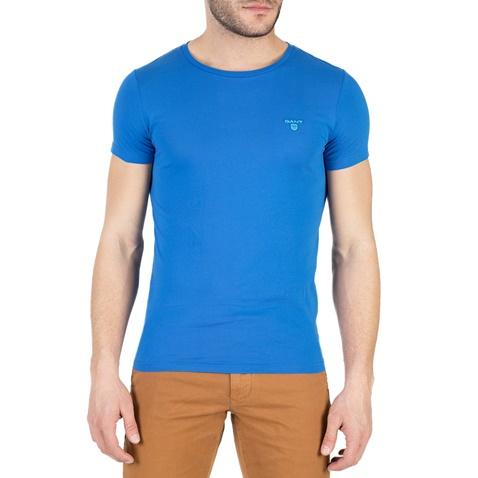 5542d7fef456 Ανδρική κοντομάνικη μπλούζα GANT μπλε (1666659.0-0039)