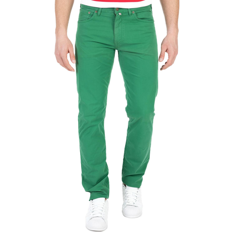 GANT - Ανδρικό παντελόνι GANT πράσινο ανδρικά ρούχα παντελόνια ισια γραμή
