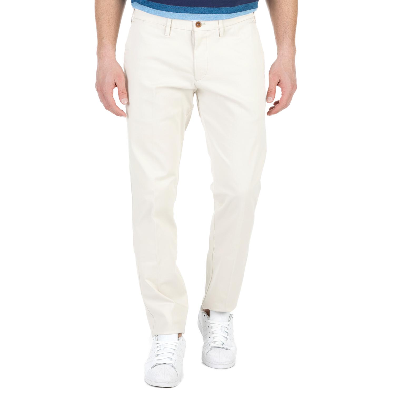 GANT - Ανδρικό chino παντελόνι GANT εκρού ανδρικά ρούχα παντελόνια chinos