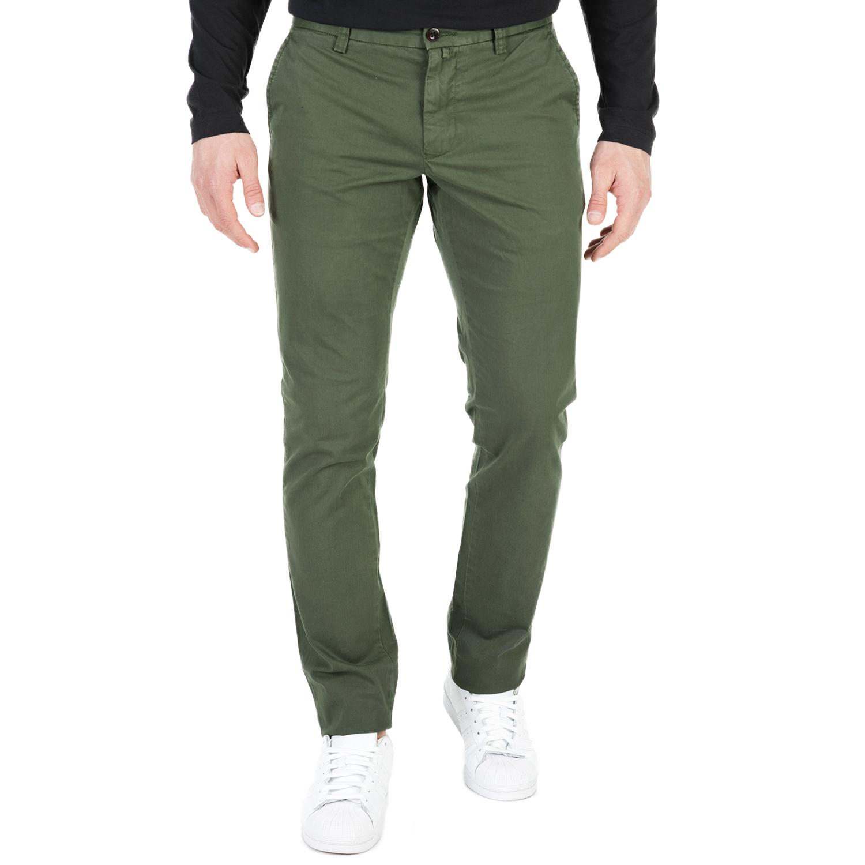 GANT - Ανδρικό chino παντελόνι GANT χακί ανδρικά ρούχα παντελόνια chinos