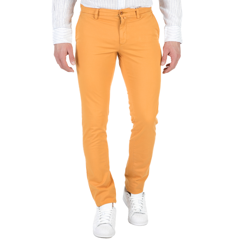 GANT - Ανδρικό chino παντελόνι GANT κίτρινο ανδρικά ρούχα παντελόνια chinos