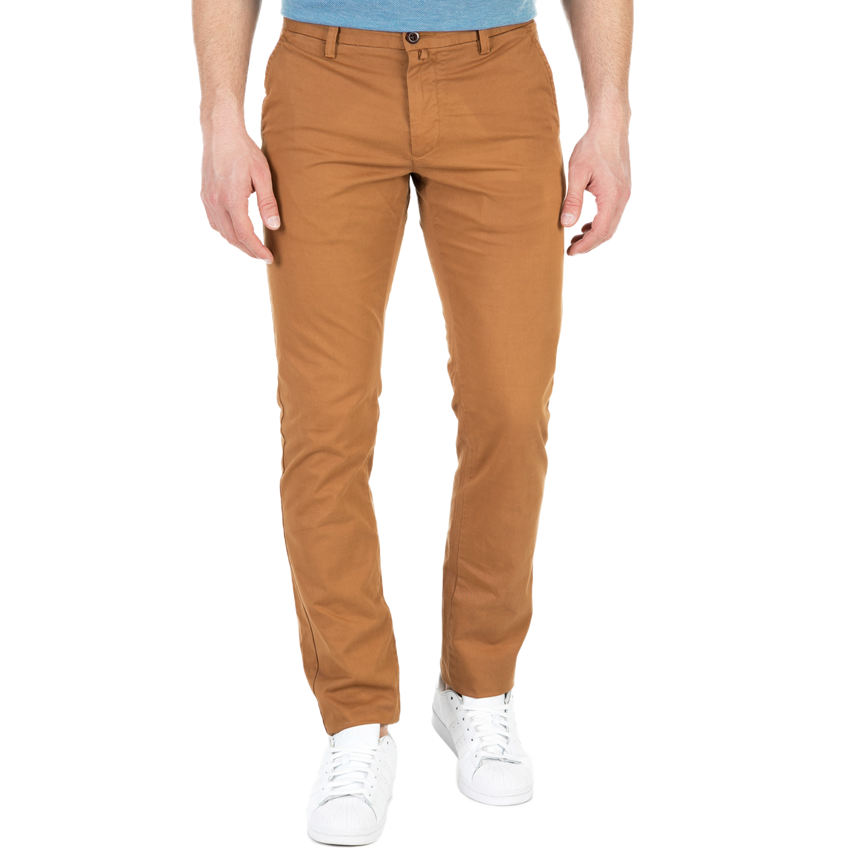 GANT - Ανδρικό chino παντελόνι GANT καφέ ανδρικά ρούχα παντελόνια chinos