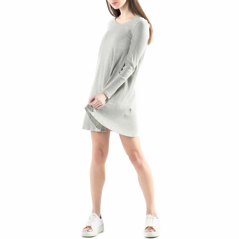 FUNKY BUDDHA - Μίνι φόρεμα FUNKY BUDDHA γκρι γυναικεία ρούχα φορέματα μίνι