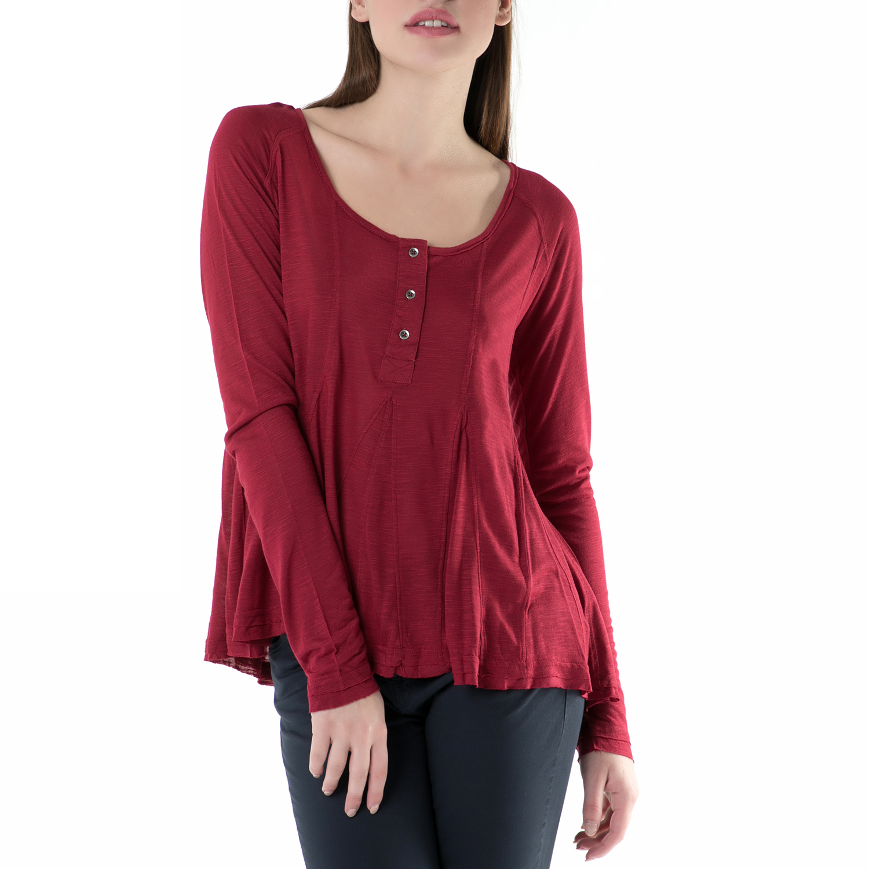 4b75b7d570f0 FUNKY BUDDHA – Γυναικεία μακρυμάνικη μπλούζα FUNKY BUDDHA κόκκινη