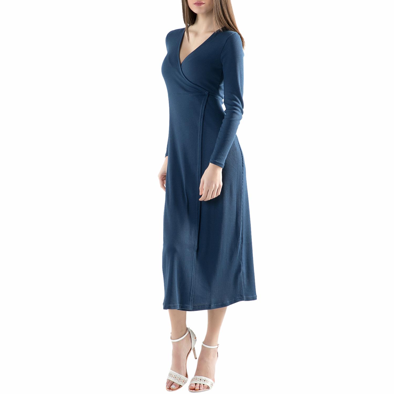 FUNKY BUDDHA - Φόρεμα FUNKY BUDDHA μπλε γυναικεία ρούχα φορέματα μάξι