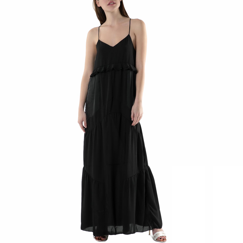 FUNKY BUDDHA - Μάξι φόρεμα FUNKY BUDDHA μαύρο γυναικεία ρούχα φορέματα μάξι
