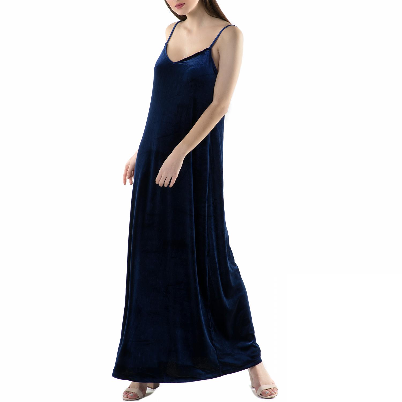 FUNKY BUDDHA - Μάξι φόρεμα FUNKY BUDDHA μπλε γυναικεία ρούχα φορέματα μάξι