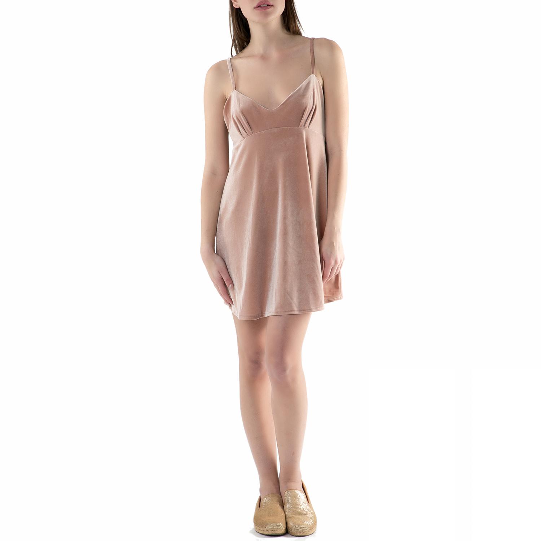 FUNKY BUDDHA - Μίνι φόρεμα FUNKY BUDDHA nude γυναικεία ρούχα φορέματα μίνι