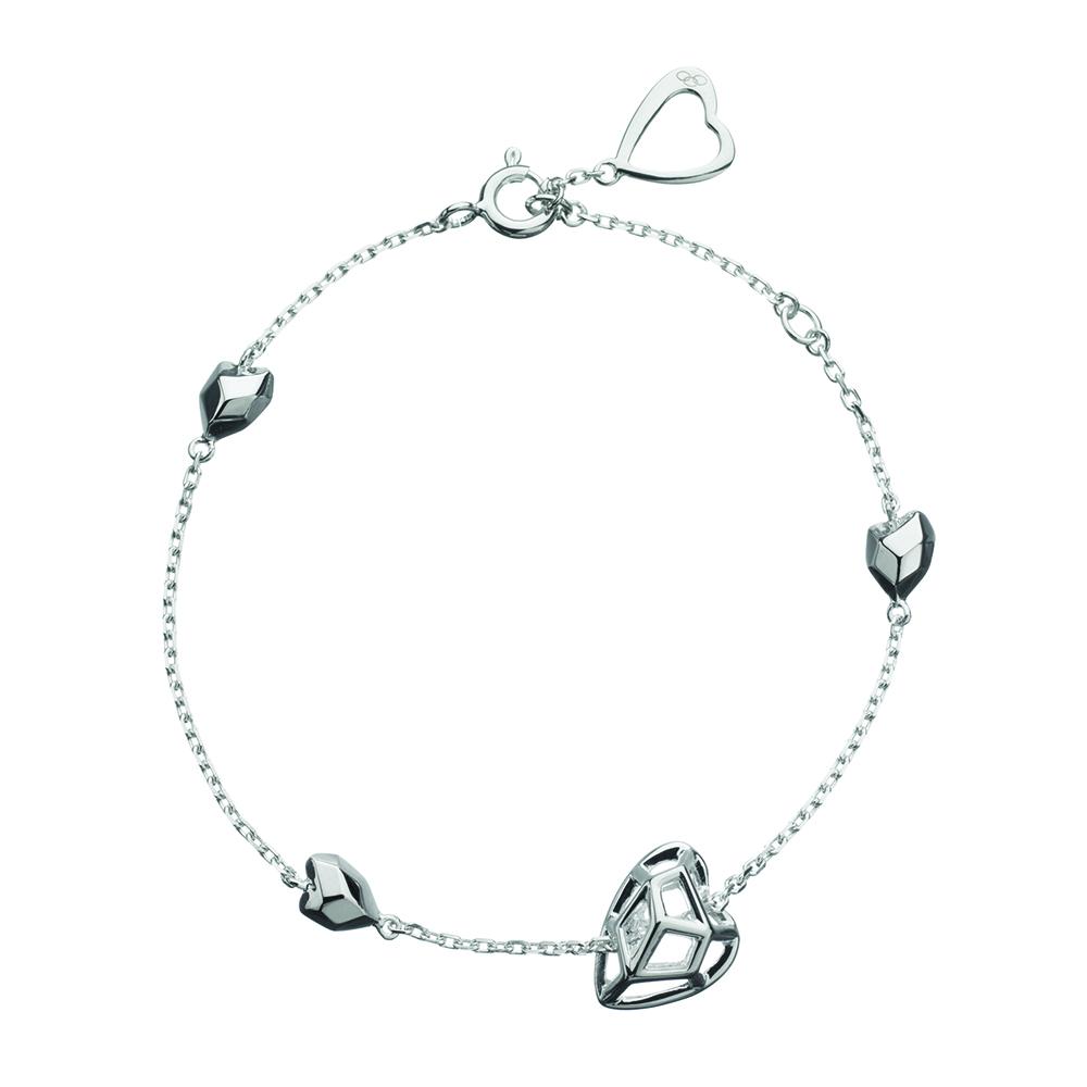 LINKS OF LONDON - Ασημένιο βραχιόλι Flutter & Wow Cage Heart γυναικεία αξεσουάρ κοσμήματα βραχιόλια