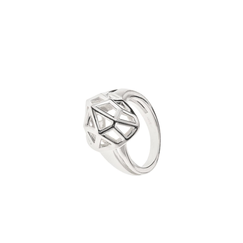LINKS OF LONDON - Ασημένιο δαχτυλίδι F&W HEART - μέγεθος 56 γυναικεία αξεσουάρ κοσμήματα δαχτυλίδια