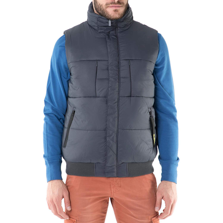 BODYTALK - Ανδρικό αμάνικο μπουφάν Bodytalk γκρι ανδρικά ρούχα πανωφόρια αμάνικα μπουφάν
