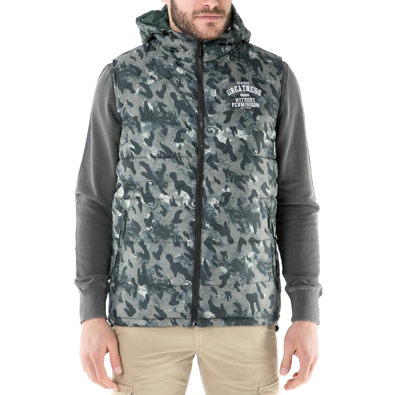 BODYTALK - Ανδρικό αμάνικο μπουφάν με κουκούλα Bodytalk πράσινο ανδρικά ρούχα πανωφόρια αμάνικα μπουφάν