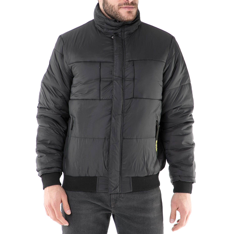 BODYTALK - Ανδρικό φουσκωτό μπουφάν Bodytalk μαύρο ανδρικά ρούχα πανωφόρια μπουφάν