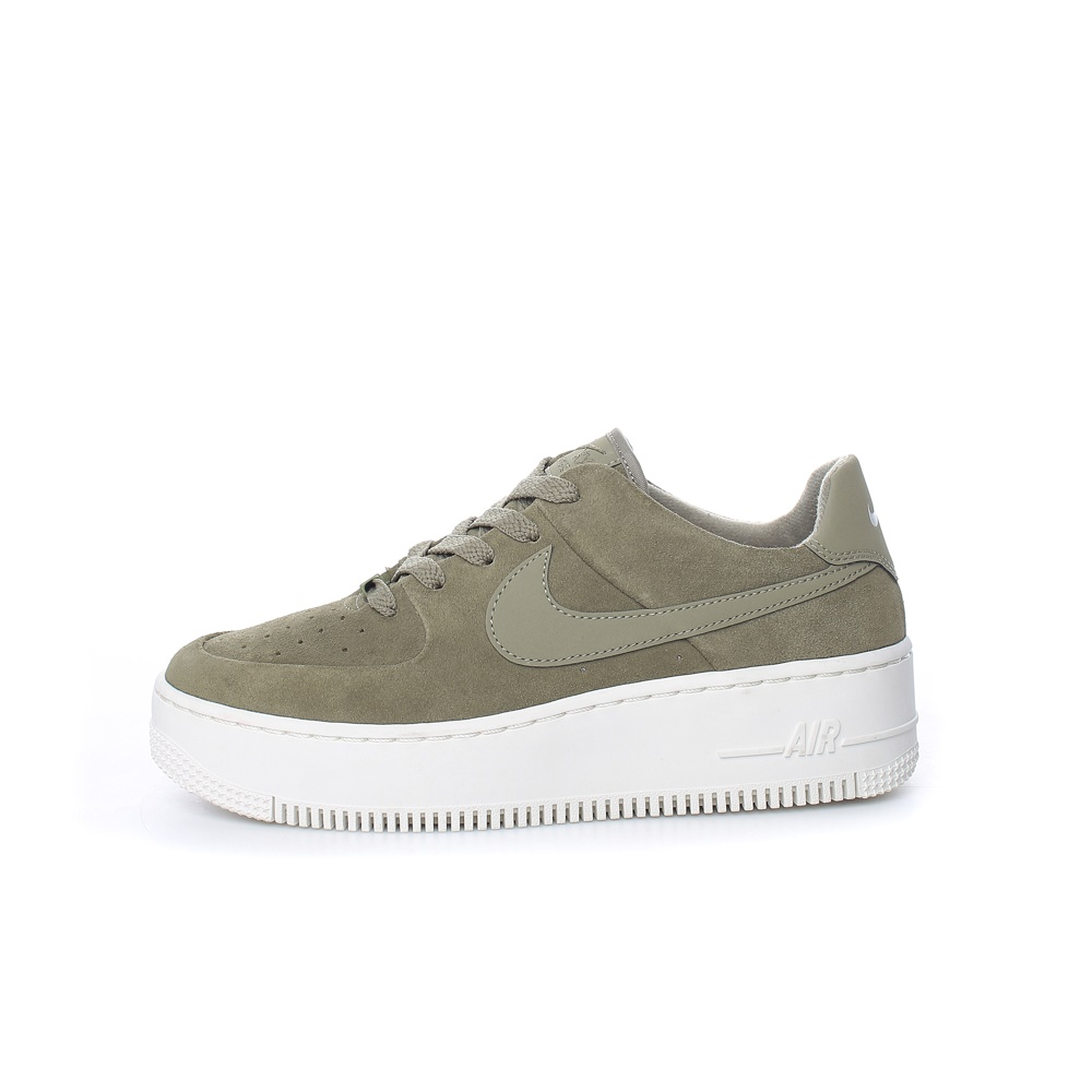 NIKE – Γυναικεία σουέντ παπούτσια Nike Air Force 1 Sage Low Wome χακί