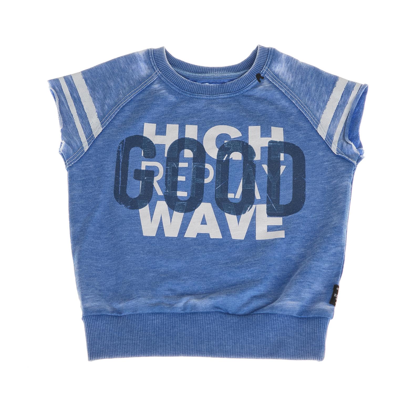REPLAY – Παιδική φούτερ αμάνικη μπλούζα Replay μπλε