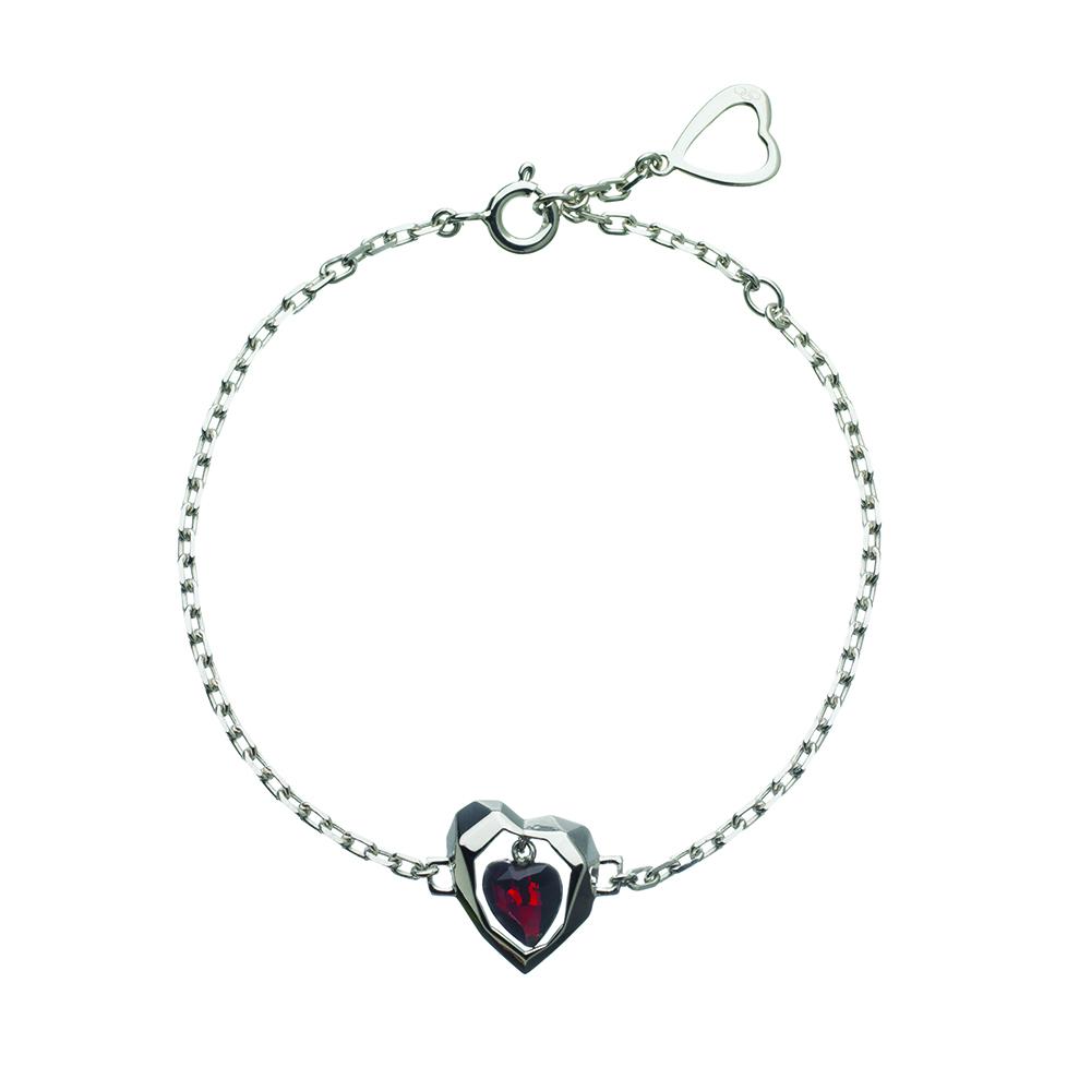 LINKS OF LONDON - Ασημένιο βραχιόλι Flutter & Wow με καρδιά γυναικεία αξεσουάρ κοσμήματα βραχιόλια
