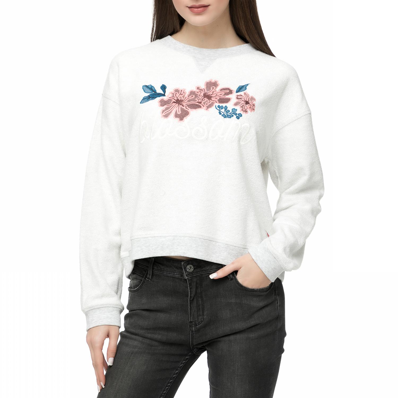 FUNKY BUDDHA – Γυναικεία μακρυμάνικη μπλούζα FUNKY BUDDHA εκρού