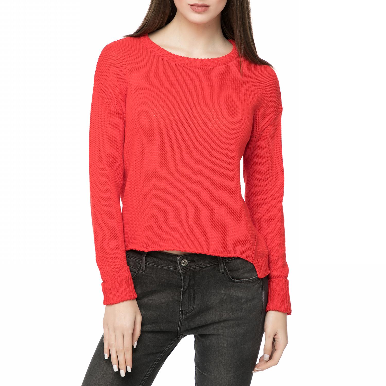 ce0ba0b21fa1 FUNKY BUDDHA - Γυναικεία μακρυμάνικη μπλούζα FUNKY BUDDHA κόκκινη ...