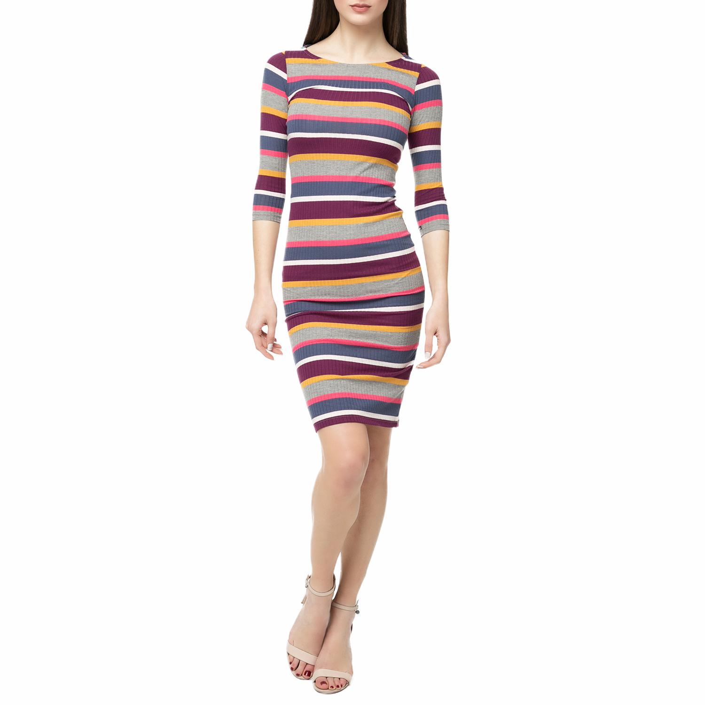 FUNKY BUDDHA - Μίνι φόρεμα FUNKY BUDDHA με ριγέ μοτίβο γυναικεία ρούχα φορέματα μίνι