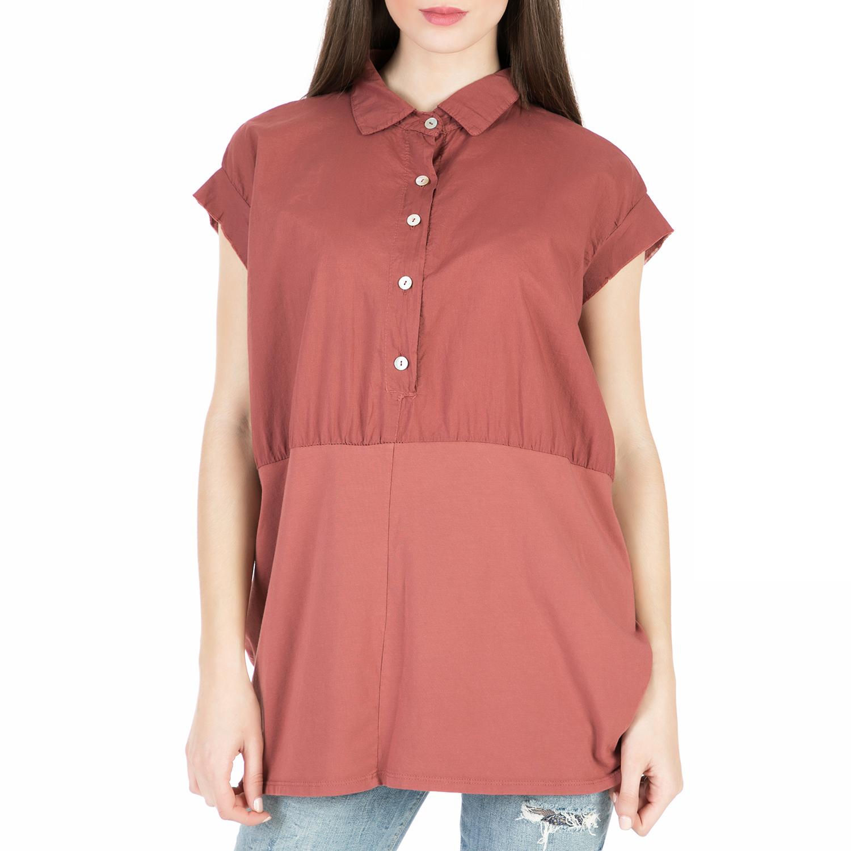 'ALE – Γυναικεία κοντομάνικη πουκαμίσα 'ALE κεραμιδί