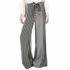 'ALE-Γυναικεία παντελόνα 'ALE ριγέ