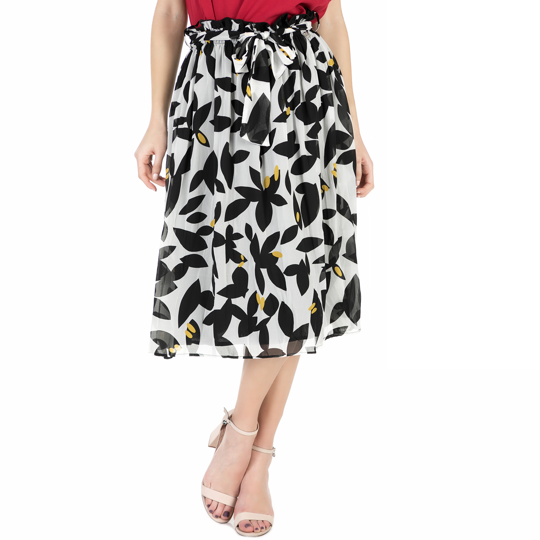 ALE - Γυναικεία midi φούστα  ALE ασπρόμαυρη.   75eccefda09