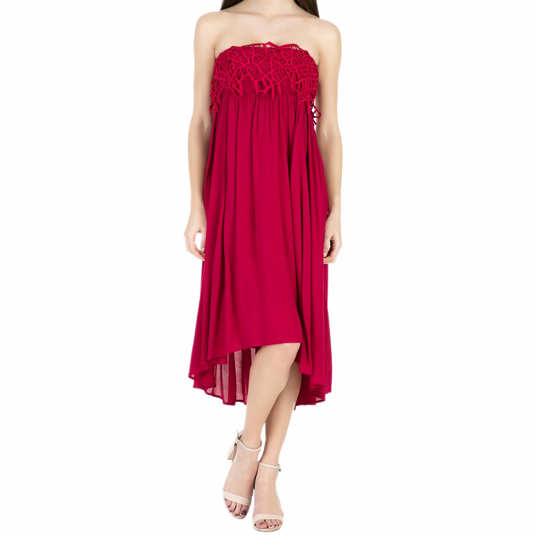 5b1ec8b96a64  ALE - Γυναικείο strapless φόρεμα  ALE κόκκινο.