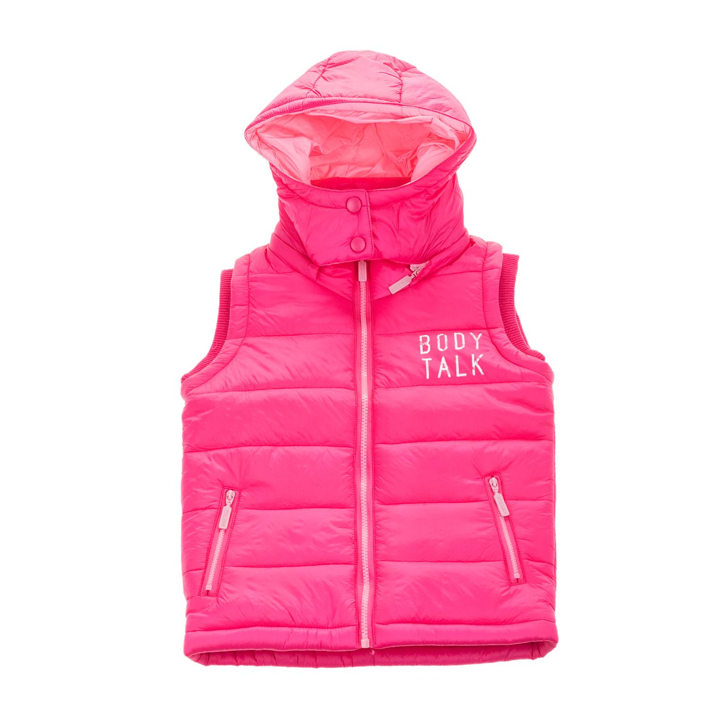 BODYTALK - Παιδικό αμάνικο φουσκωτό μπουφάν με κουκούλα BODYTALK φούξια παιδικά girls ρούχα πανωφόρια