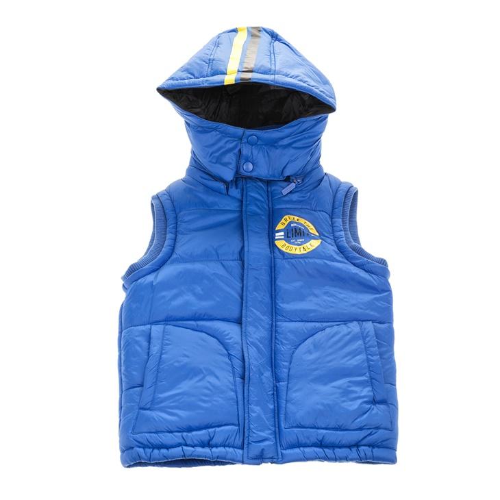 6a7a57e4993 Παιδικό αμάνικο φουσκωτό μπουφάν BODYTALK μπλε με τύπωμα (1672055.0 ...
