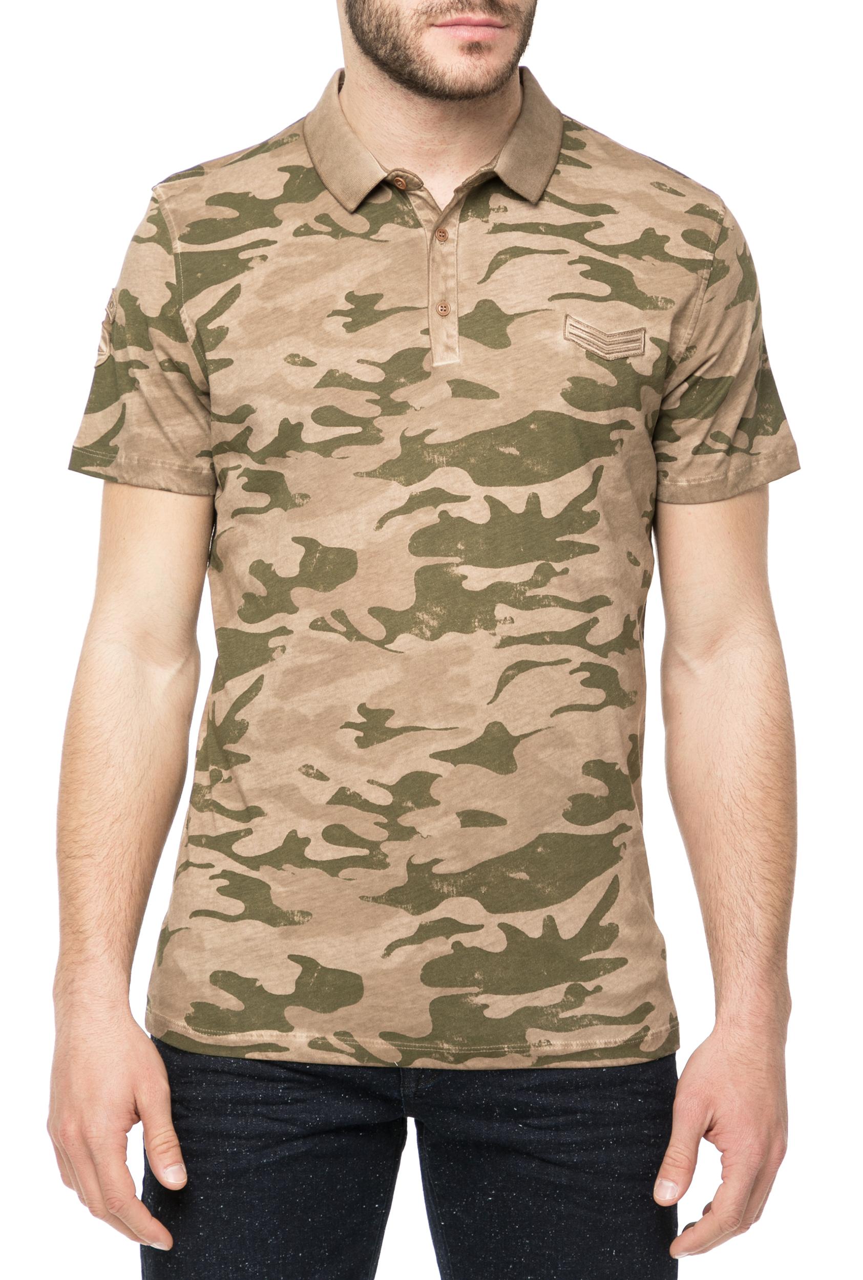 HAMAKI HO - Ανδρική πόλο μπλούζα HAMAKI HO με μοτίβο παραλλαγής
