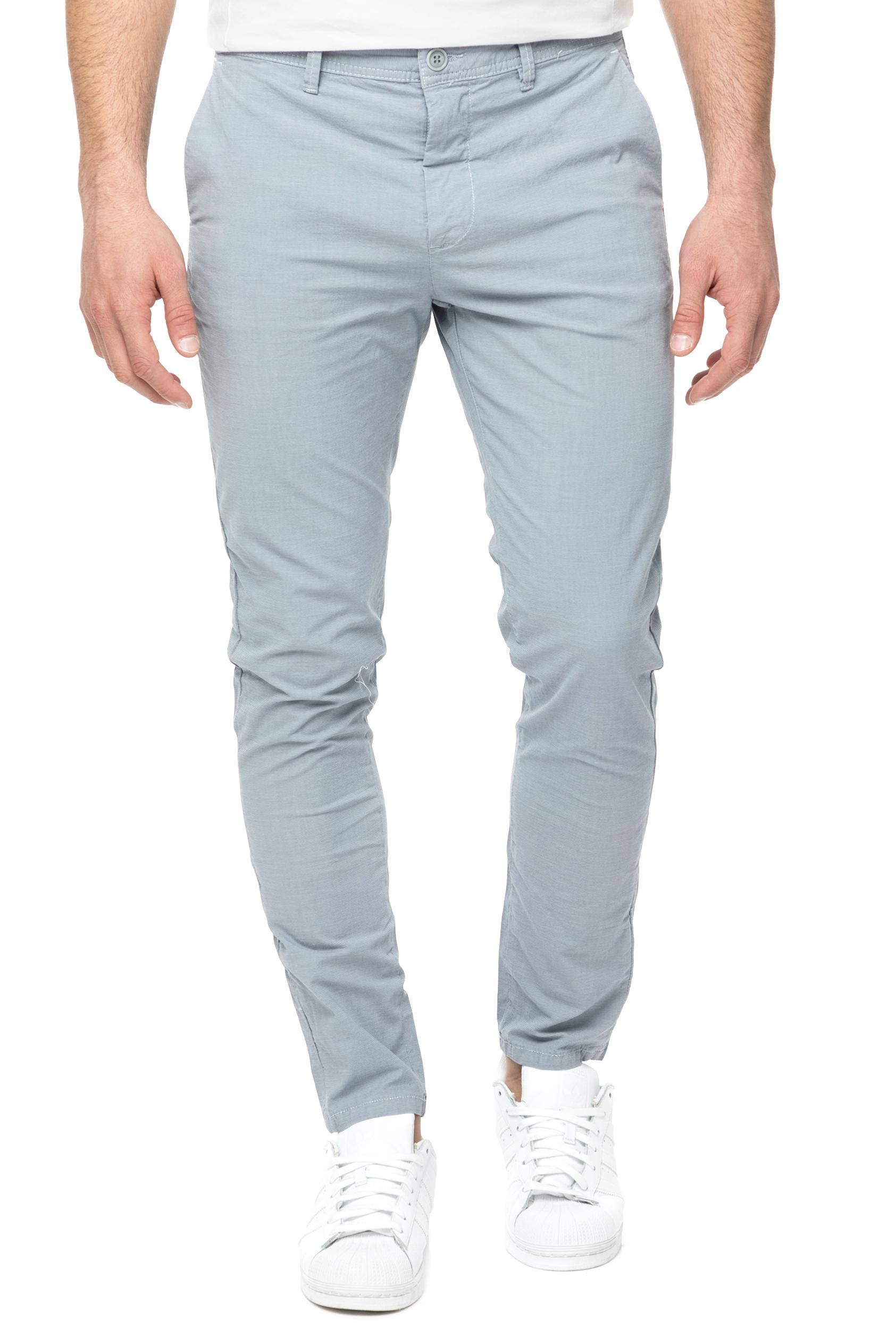 HAMAKI HO - Ανδρικό chino παντελόνι HAMAKI HO γαλάζιο ανδρικά ρούχα παντελόνια chinos