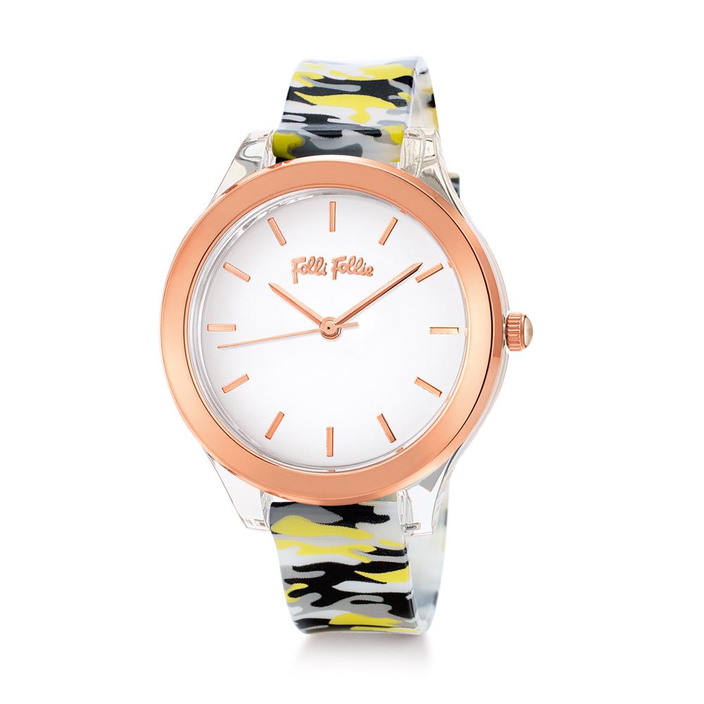 FOLLI FOLLIE - Γυναικείο ρολόι με πλαστικό λουράκι FOLLI FOL...
